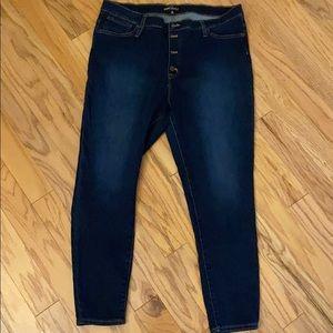 EUC J.CREW Factory Blue High-Waisted Jeans